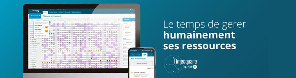 6ème génération de logiciel Holy-Dis : Timesquare V2, une gestion des plannings et des temps davantage tournée vers l'Humain