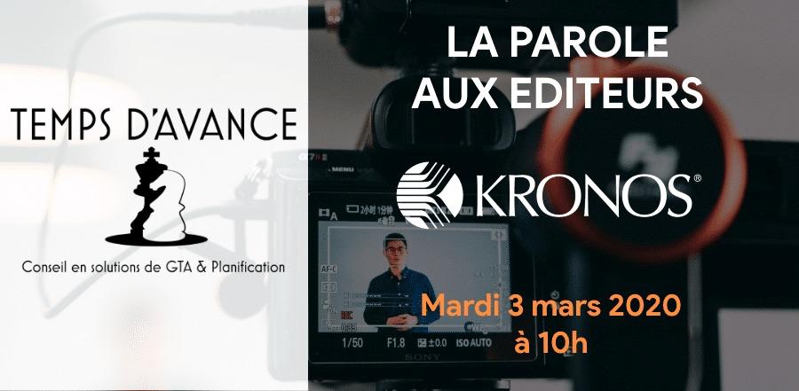 La parole aux éditeurs : Kronos